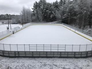 Ice Rink with new boards